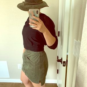 BCBG MAXAzria suede skirt